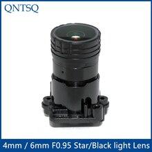 """2MP 1/2. """" апертура F0.95 4 мм или 6 мм объектив камеры видеонаблюдения, Звездный светильник и черный светильник с фиксированным объективом для камеры безопасности, MTV-2MPF0.95"""