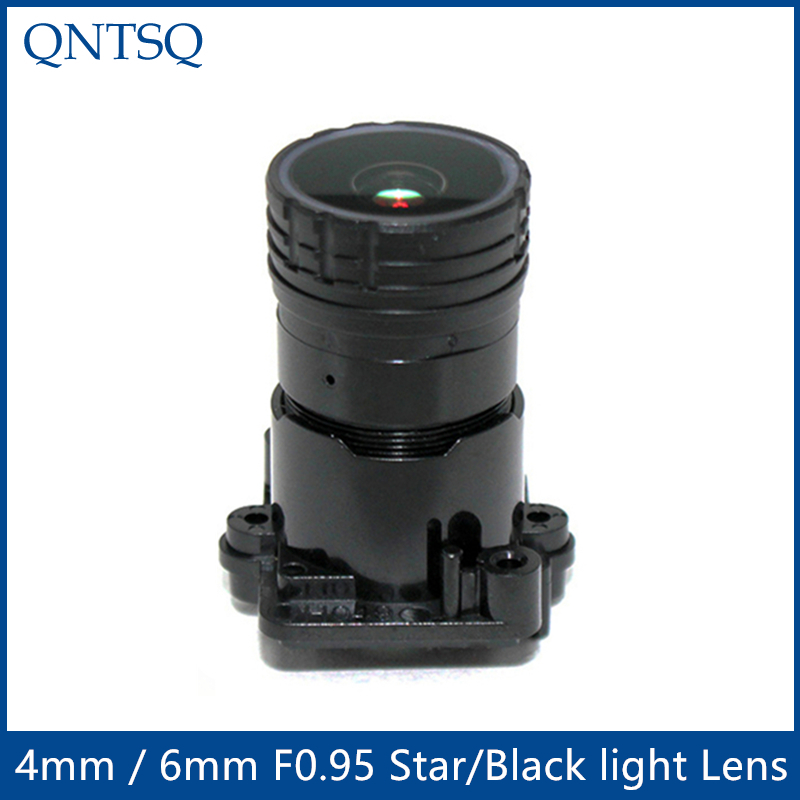 """2MP 1/2.7"""" Aperture F0.95 4mm or 6mm cctv camera lens Star light and black light Fixed lens for Security Camera  MTV 2MPF0.95 CCTV Parts     -"""
