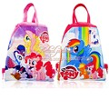 2pcs My Little Ponys Cute Drawstring Backpack Bags 34*27CM Non-Woven Fabric Multipurpose Bags Kids Party Gifts,School Furniture