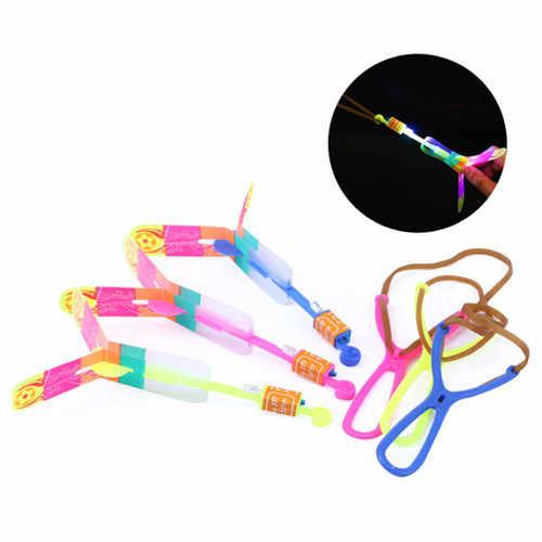 Divertidos 10 Uds Led de plástico, luces para vuelo, tirachinas de noche, juguete para chico al aire libre