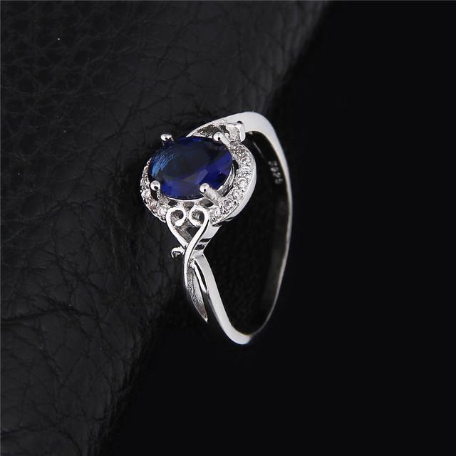 Elegant Blue-Colored Zircon Ring