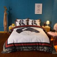 RUIYEE brand comfortable bed set luxury bedding European style printing king size bedding set duvet set bed sheet&Pillowcase