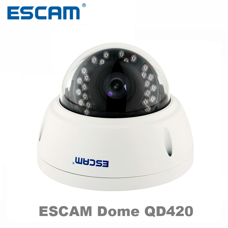 ESCAM QD420 Dome IP Camera 4MP H2.65 IR Night Vision Outdoor Surveillance Camera Onvif P2P waterproof IP66 Security CCTV Camera 4 in 1 ir high speed dome camera ahd tvi cvi cvbs 1080p output ir night vision 150m ptz dome camera with wiper