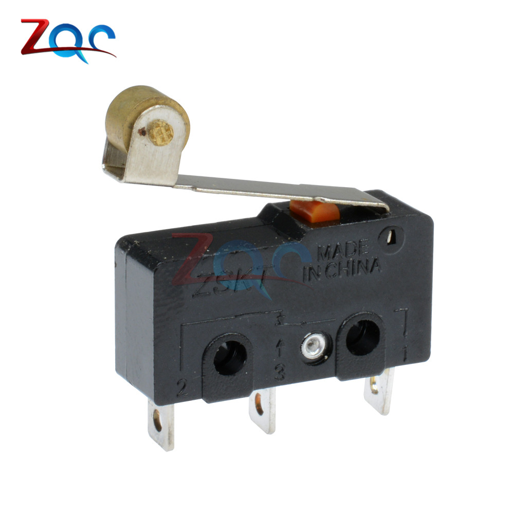 10Pcs 250V 5A 3 Pin Tact Switch Sensitive Microswitch Handle KW11-3Z iw