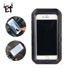 ET Waterproof Bike Mobile Phone Holder Case Mobile Phone Bicycle Motorcycle Handlebar Mount Stand Motorcycle GPS Phone Stand аквабокс overboard waterproof phone case and bike mount ob1156blk