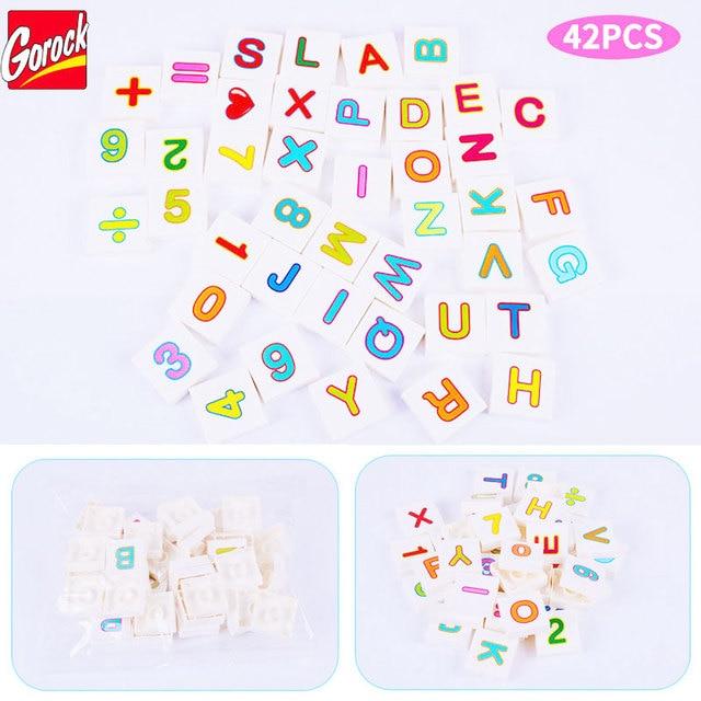 Gorock 42pcs A Z Letters Numbers Large Particles Building Block Toy
