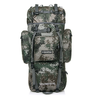 80L Mountain Hiking Backpacks Rucksack Military backpack tactical backpack Multi function Tear resistant Waterproof Fabric