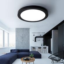 Moderna Iluminación LED Regulable Techo Blanco y Negro Dia35-65cm Cocina Living Room Bed room Iluminación de Techo Lámpara De Techo De Hierro