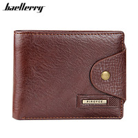 Baellerry Genuine Leather Brand Men Wallets Design Short Small Wallets Male Mens Purses Card Holder Carteras