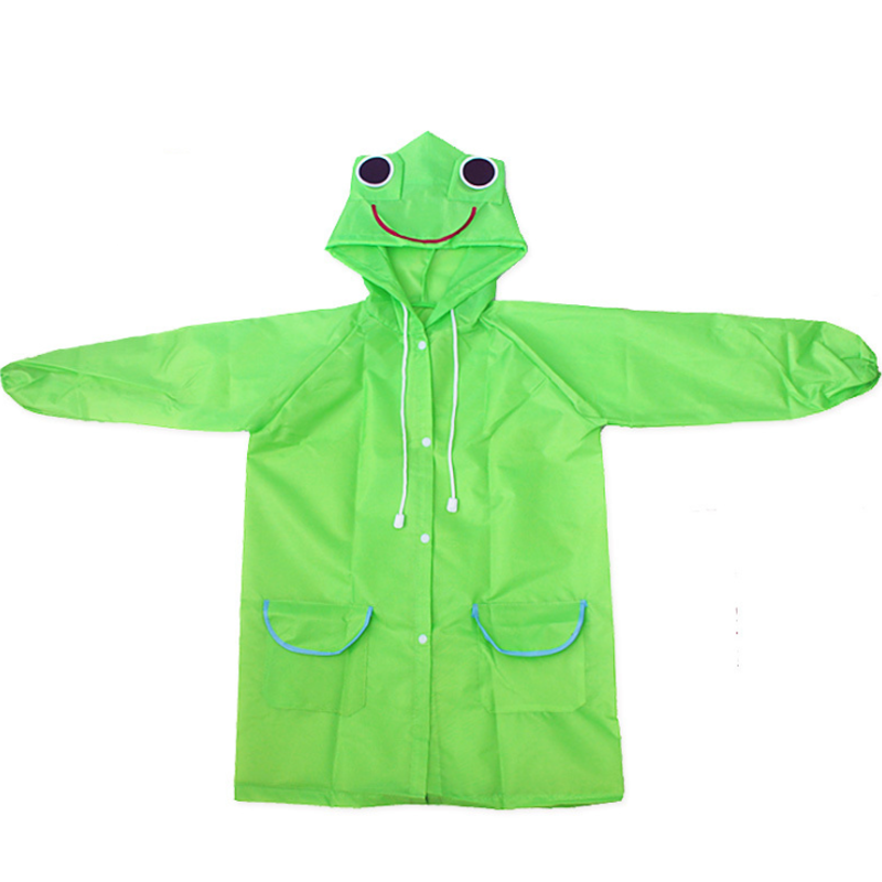 1 Pcs Kawaii Green frog season rainy breathable waterproof girls boys coat childrens wear a raincoat