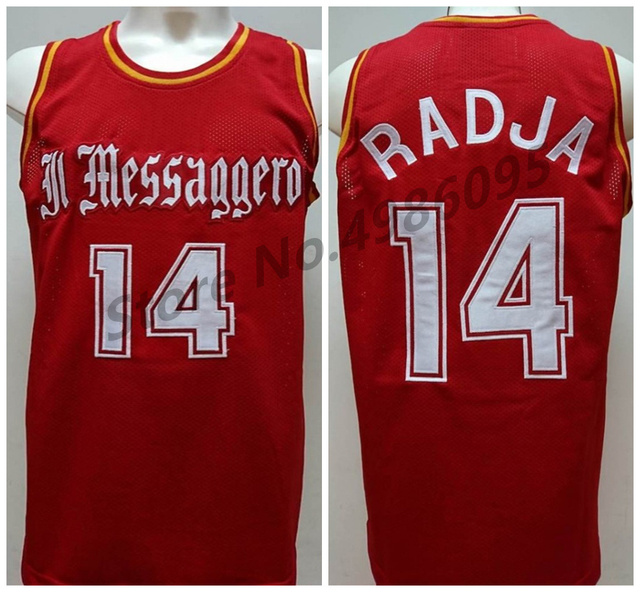 uk availability 31991 73aaf US $33.99 15% OFF|Dino Radja #14 IL Messaggero Roma Retro Basketball Jersey  Mens Stitched Custom Any Number Name Jerseys-in Basketball Jerseys from ...