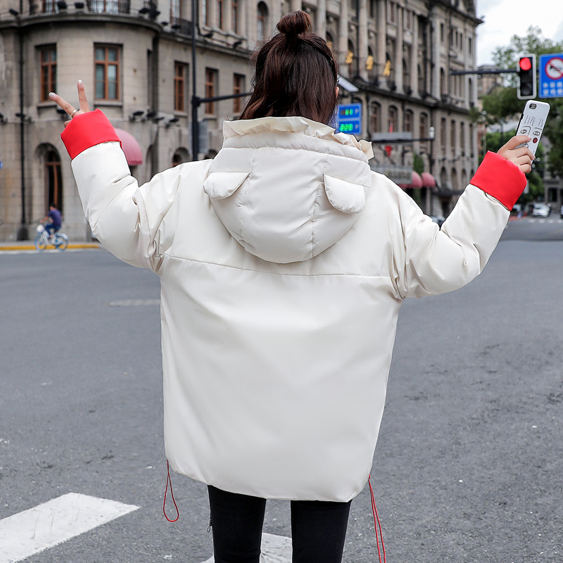 En Plus D'hiver Parka Taille white Chaud Coton Femelle yellow Survêtement Femmes Parkas Étudiants La À Capuchon Veste Lâche Pardessus Manteau Coton rembourré Pink Mignon qOnRtZwzpx