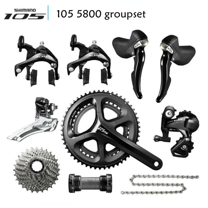 Shimano 105 5800 Groupset 2x11S 22S Speed 50-34T 52-36T 53-39T 170mm 172.5mm 175mm Kit for Road Bike Bicycle