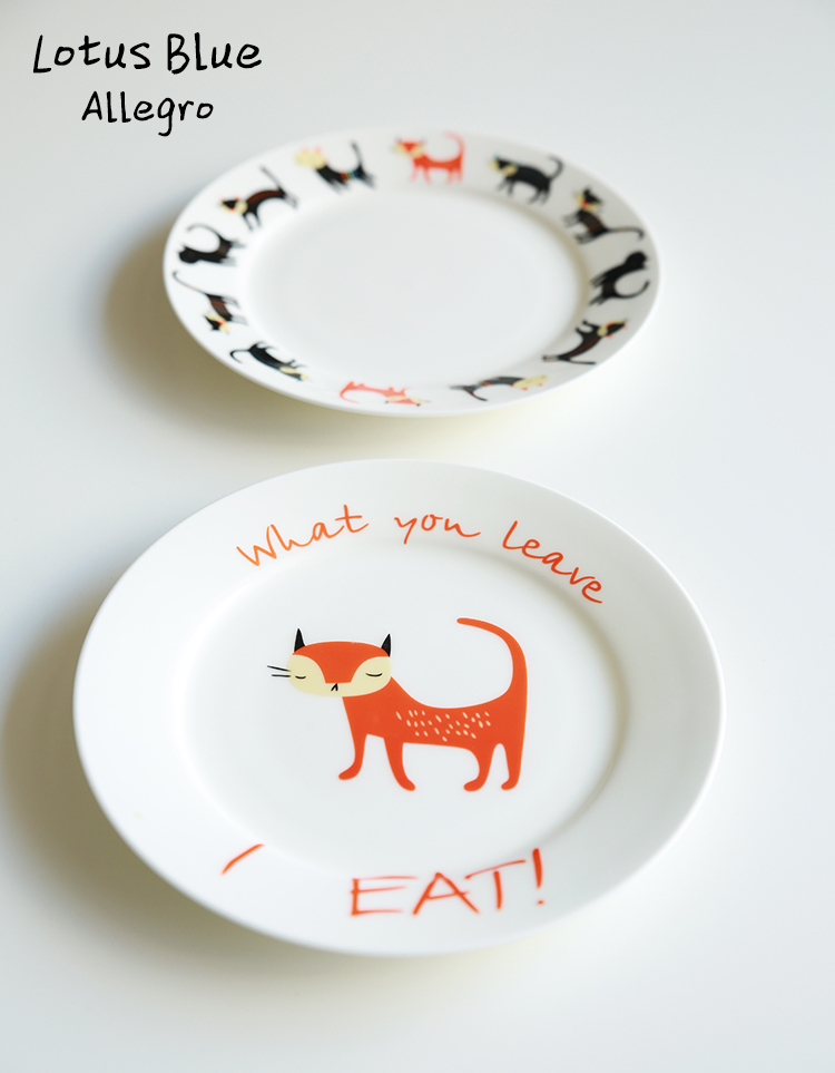 8INCH Cartoon Cat decorative plates Bone China dishes plates colors plate dish dinner fruit plate pasta European Style simple-in Dishes \u0026 Plates from Home ...  sc 1 st  AliExpress.com & 8INCH Cartoon Cat decorative plates Bone China dishes plates colors ...