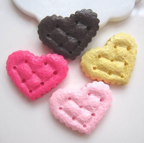 30 шт./лот Flatback Смола Еда Кабошон DIY ремесло торт искусственный печенье смолы печенья для DIY украшения-Смешанный 10,