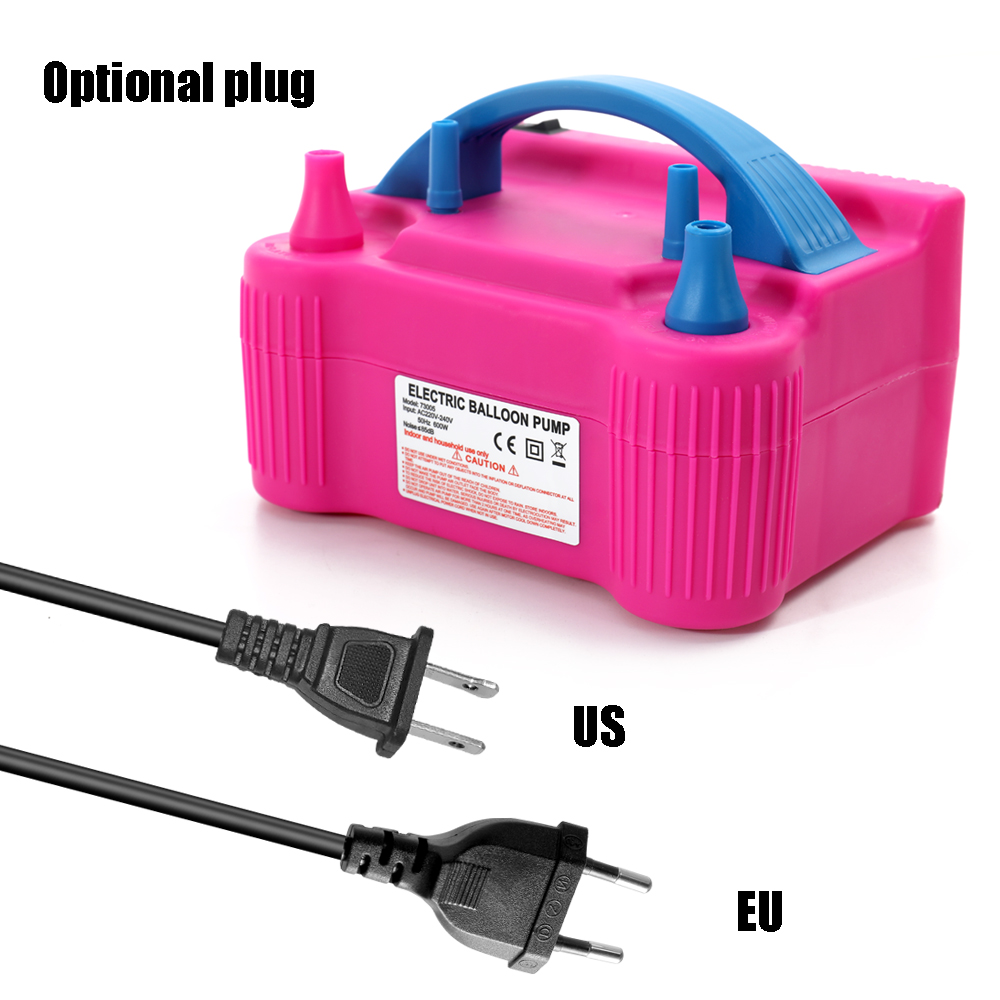 Image 2 - 110V/220V Electric High Power Inflating Two Nozzle Air Blower Fast Portable Inflatable Tool Electric Balloon Inflator Pump-in Blowers from Tools on
