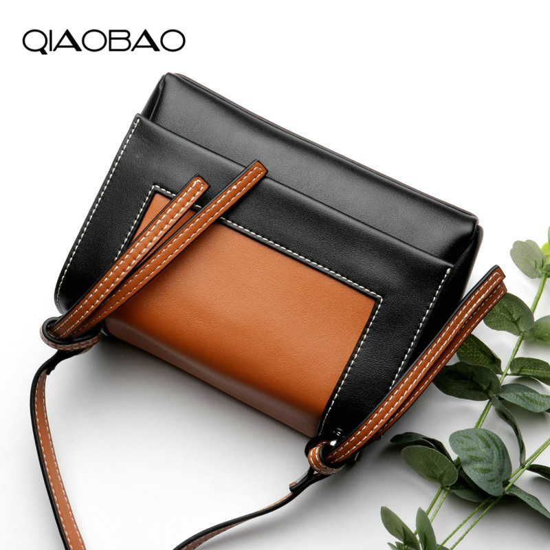 QIAOBAO Genuine leather bag luxury women bags designer leather crossbody bags for women ladies messenger shoulder bags 2018 qiaobao 100% genuine leather women s messenger bags first layer of cowhide crossbody bags female designer shoulder tote bag