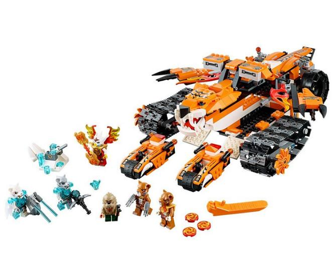10357 Bela 711Pcs Chimaed Tiger's Mobile Command Building Block kids DIY Bricks Toys Christmas gift Compatible with Lepin 70224