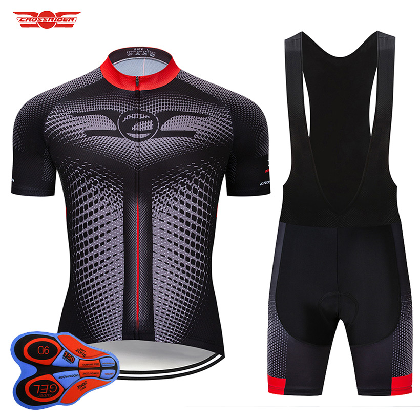 Crossrider 2019 New Cycling Jersey Set MTB Uniform Bike Clothing Ropa Ciclismo Bicycle Wear Clothes Mens Short Maillot Culotte