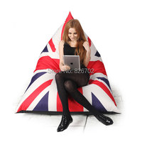 Wholesale British Flag Style Outdoor Bean Bag Chair Garden Camping Beanbags Cover Lazy Sofa Anywhere Portable