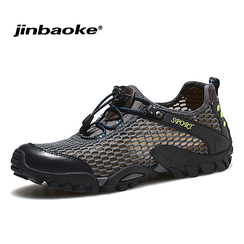 2019 Summer Men Trekking Shoes Breathable Hiking Shoes for Men Outdoor Light Sports Shoes Quick Dry Aqua Climbing Walking Shoes