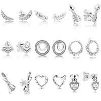 9 Style 1 paire 925 en argent Sterling clous d'oreille breloque flèche arc coeur haute qualité boucles d'oreilles pour les femmes de mariage bijoux cadeau