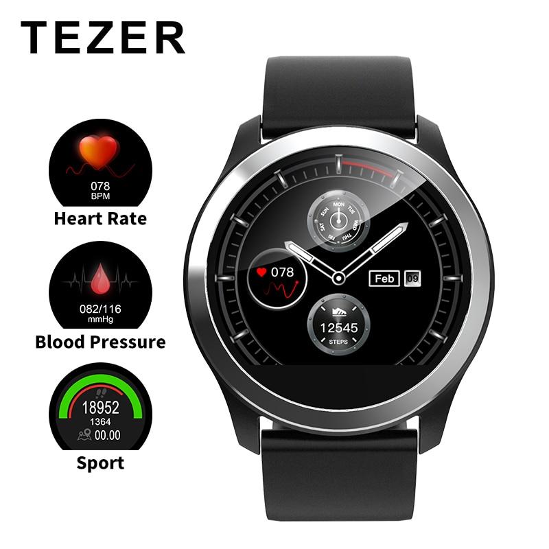 TEZER Z03 aptidão rastreador smartwatch diagrama de ECG heart rate monitor de pressão arterial смарт часы Para ios android homens mulheres
