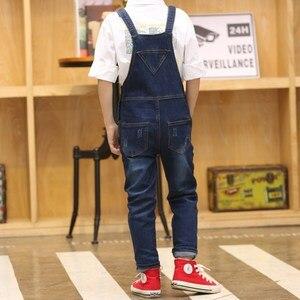 Image 5 - 2020 junge Insgesamt Kinder Denim Overall Kinder Overalls Jeans Frühling Mädchen Herbst Jungen Jeans Hosen Cowboy Taschen Outwears 2 15T