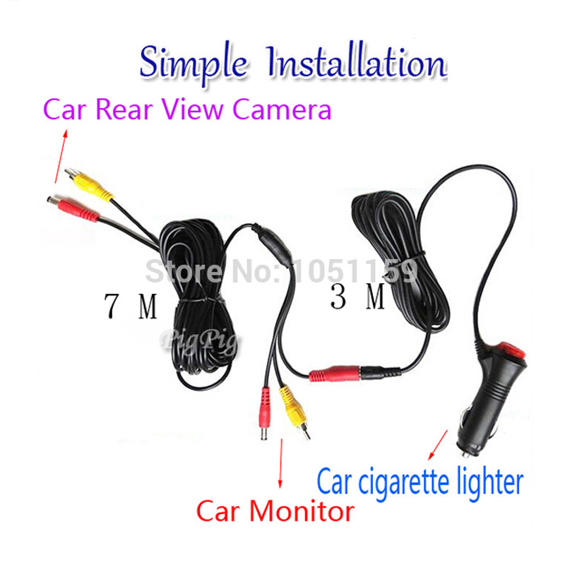 Wire Harness Easy to Install and Control Car Rear View Camera Reverse And Auto Monitor Parking Assistance Free Shipping