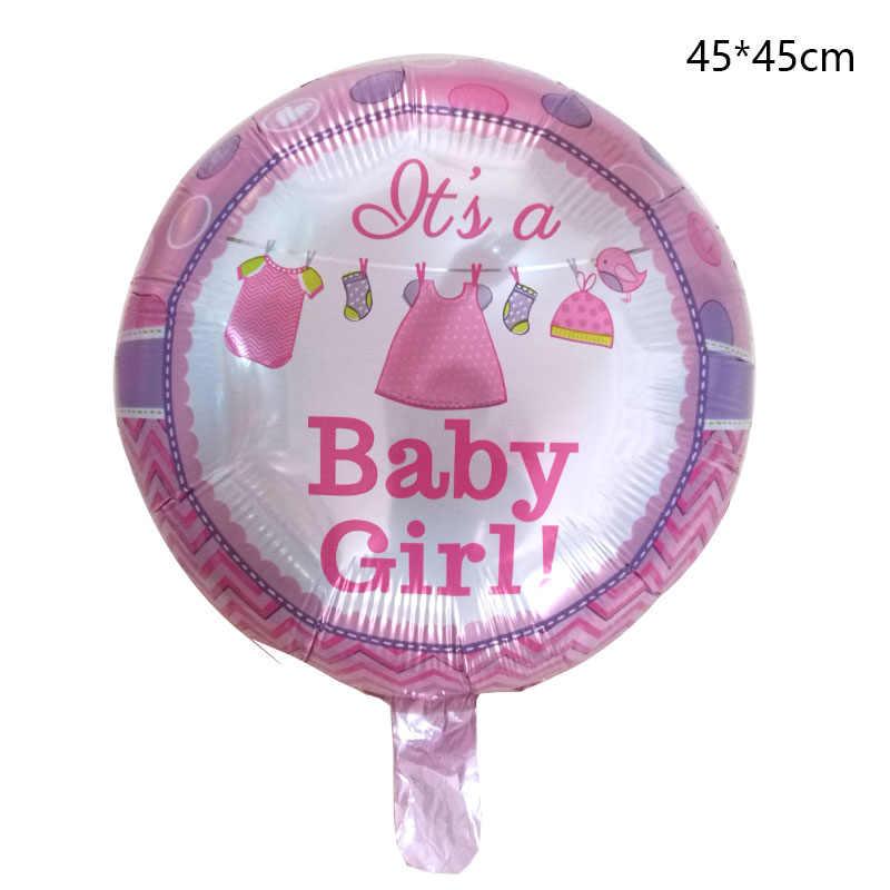 1 ピース 18 インチベビーシャワーガールボーイ箔風船新生児ピンクブルー誕生日パーティーの装飾空気グロボスボールグロボスギフト