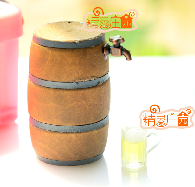 Mini dollhouse A mini furniture model accessories for beer kegs-in ...