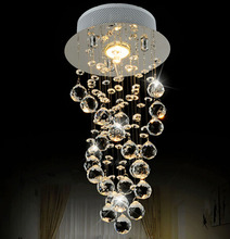 Best Price Modern Luxury LED Crystal Chandelier Bedroom Corridor Hallway Entrance Bar Balcony LED Lamp Free Shipping