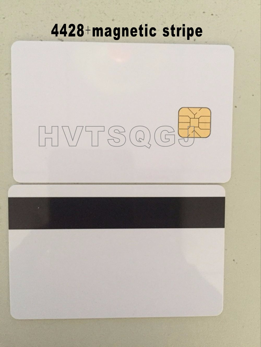 20pcs/lot 2 In 1 Composite Contact Blank/white Memory Smart Ic Sle 4428 Chip Card With Hi-co Magnetic Stripe Free Shipping Ic/id Card