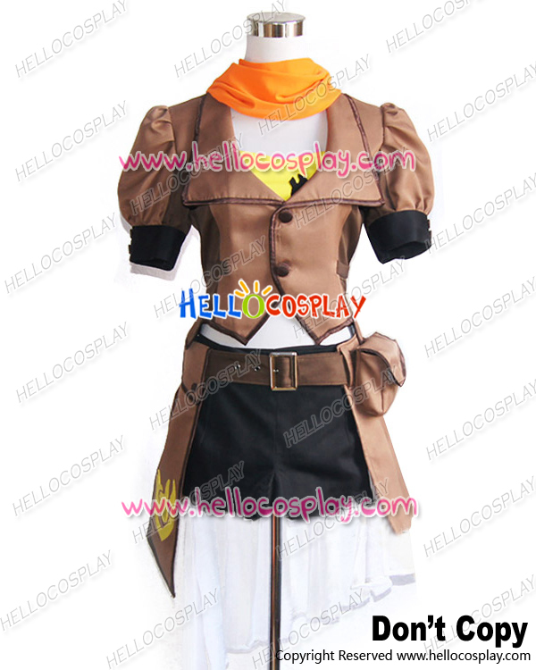 Japanese Anime Outfit RWBY Cosplay Yellow Trailer Yang Xiao Long Uniform Costume New H008