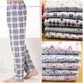 2017 Nova Primavera Outono 100% algodão de alta qualidade casa de pijama calças plus-size 4XL 100 kg inverno ocasional das mulheres pijamas Homens