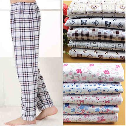 2017 Nueva Primavera Otoño 100% de algodón de alta calidad del hogar pijama mujeres pantalones casuales de talla grande 4XL 100 kg invierno pijamas de Los Hombres