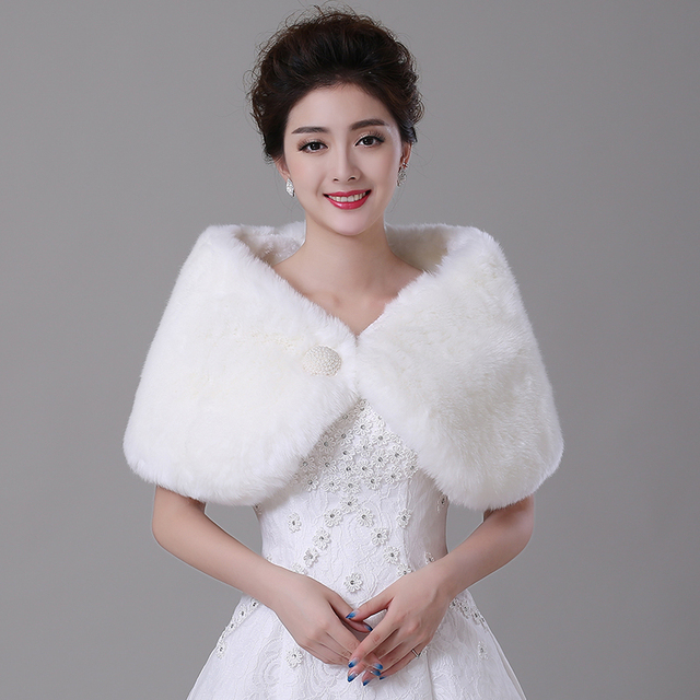 2017 Fall Winter Hot Selling Ivory/red Wedding Wrap Shawl Women Jacket Bridal Tippet Wedding Evening Party Wrap Cape