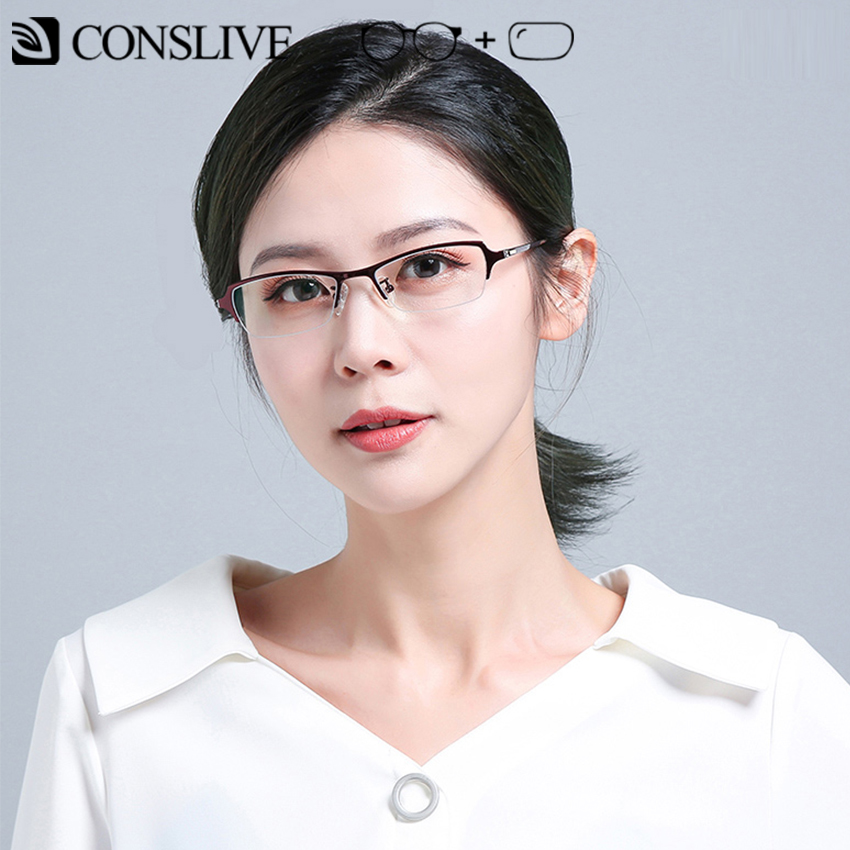 Prescription Glasses Myopic Women Small Titanium Nearsighted Eyeglasses Ladies Optical Eye Glasses Photochromic 8655