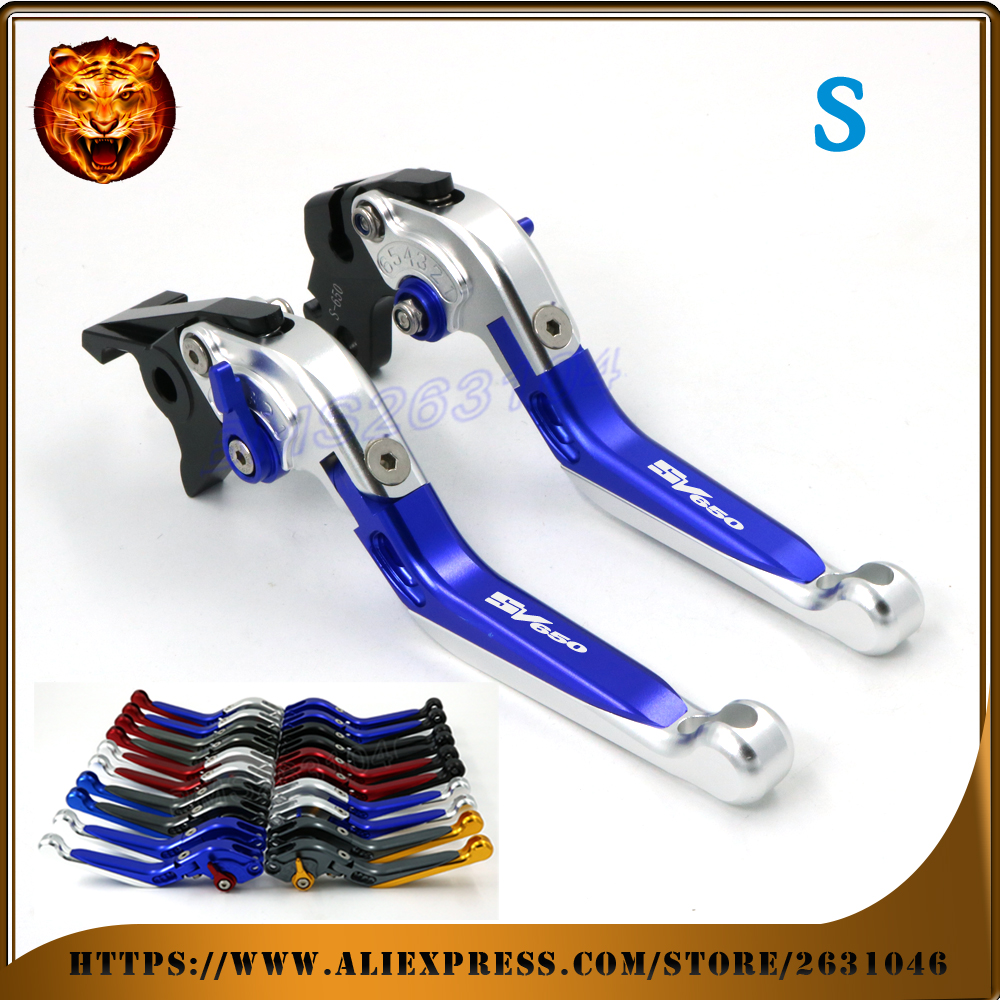 ФОТО For SUZUKI SV650 SV650S 1999 06 07 08 2009 BLUE Free shipping Adjustable Folding Extendable Brake Clutch Lever Motorcycle