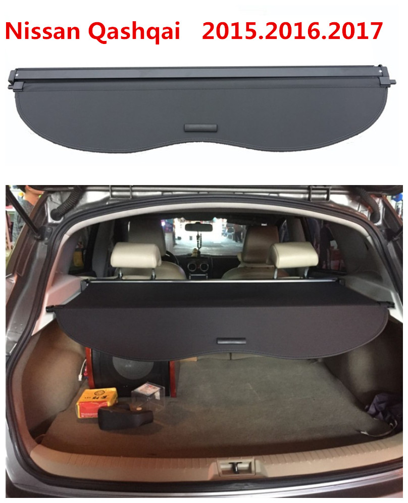 Car Rear Trunk Security Shield Cargo Cover For Nissan Qashqai 2015.2016.2017 High Qualit Auto Accessories car rear trunk security shield cargo cover for dodge journey 5 seat 7 seat 2013 2014 2015 2016 2017 high qualit auto accessories