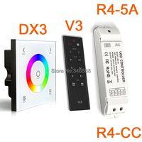 AC110V-240V DX3 touch Панель настенное крепление 2.4 г Беспроводной LED синхронизации RGB LED контроллер DMX512 Выход и V3 удаленного и r4-5a r4-cc приемник