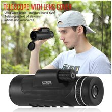 Outdoor Day Night Vision Monocular Telescope Zoom 40x60 HD Optical Vision Telescopes Camping Hiking Military Hunting Monoculars(China)