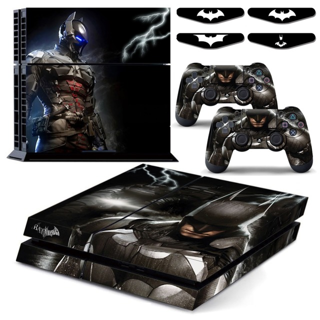 Batman arkham knight ps4 vingl skin decal sticker cover for playstation 4 console and play station