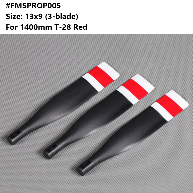 FMS 1.4M Zero Grey 13 x 9  3 Blade Propeller Free Shipping !