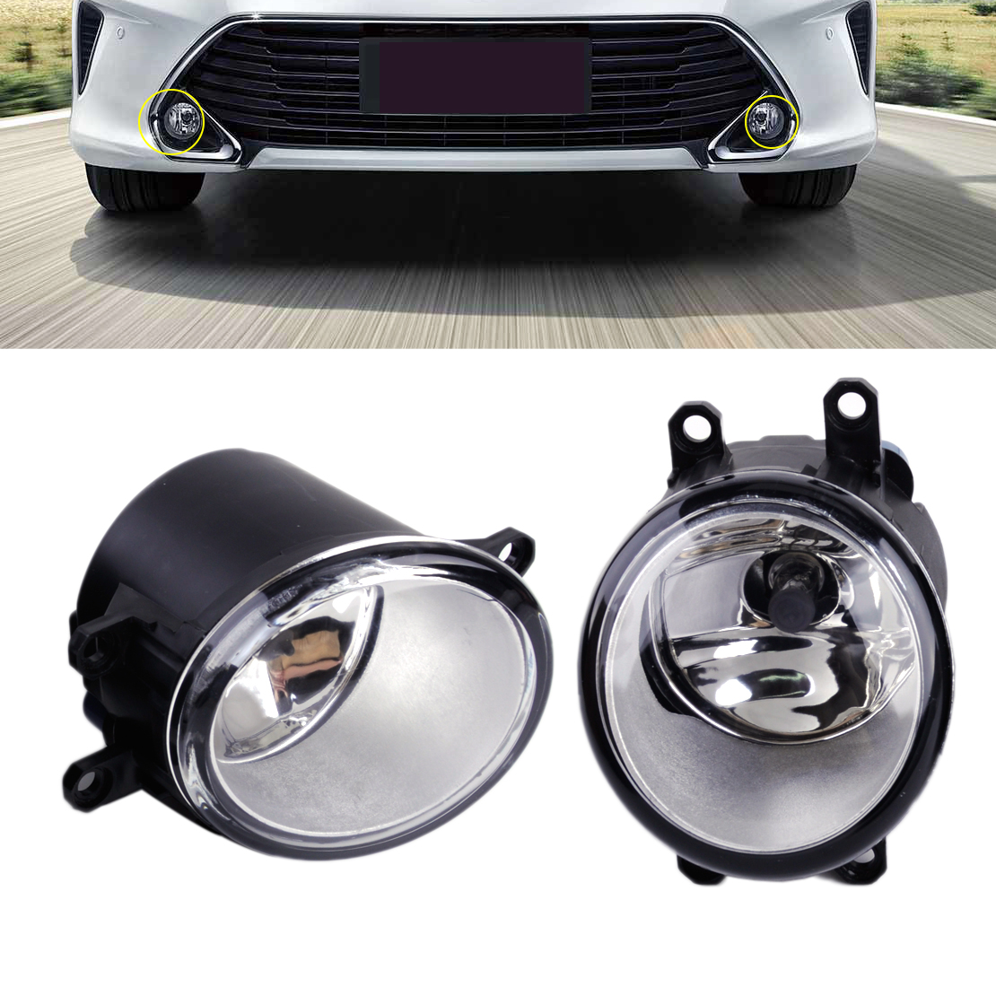Beler 8122006070 8121006070 feu de conduite anti-brouillard gauche droite avec ampoules H11 adaptées pour Toyota Camry Corolla Matrix Lexus LX570