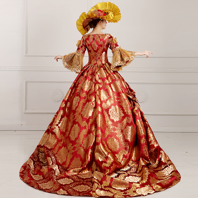 29921a1519a1 Ladies Medieval Renaissance Victorian Dresses Red Gold Masquerade Costumes  Queen Ball Gowns For Ladies S 5XL on Aliexpress.com | Alibaba Group