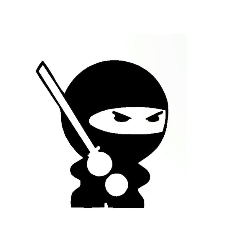 Styling Cute Ninja Window Funny Sticker Windows Toy Sticker 12.3x11cm