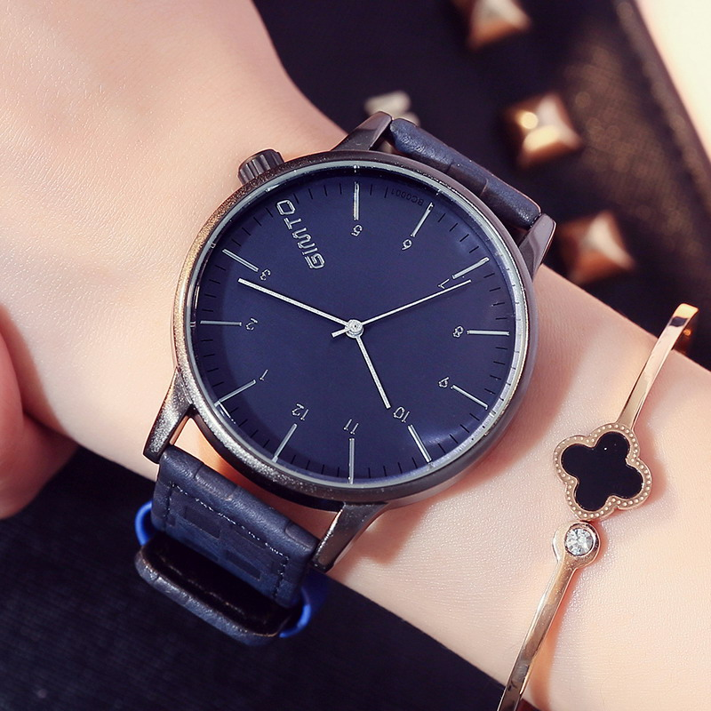 2017 GIMTO Creative Women Watches Leather Fashion Casual Ladies Watch Female Quartz Sport Wristwatch Relogio Feminino Montre rigardu fashion female wrist watch lovers gift silicone band creative wristwatch women ladies quartz watch relogio feminino 25