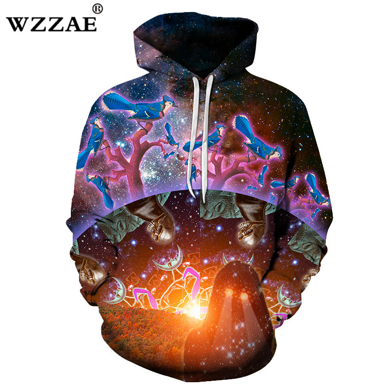 starry sky Skull 3D Printed Hoodies Men Women Sweatshirts Hooded Pullover Brand 6xl Qaulity Tracksuits Boy Coats Fashion Outwear