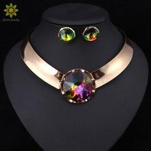 6 видов цветов Для женщин Ювелирные наборы Мода Цепочки и ожерелья дизайн уникальный дизайн Цепочки и ожерелья для вечерние свадебные Мода прямые продажи